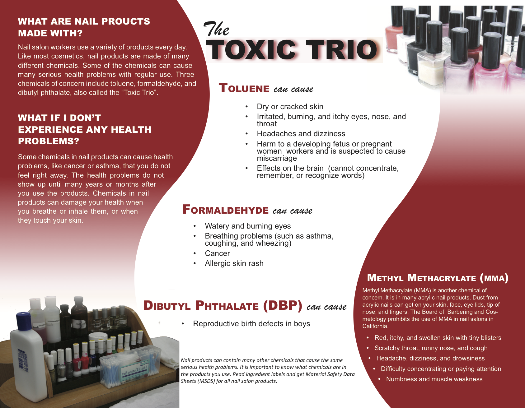 Learn more about the toxic trio – Michigan Healthy Nail